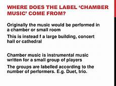 baroque and classical chamber music