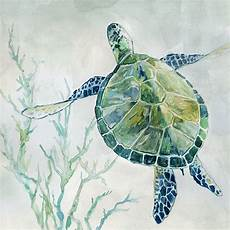 green watercolor turtle 02 pictures mirrors