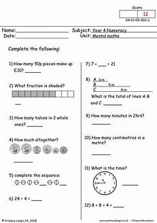 yr 4 maths worksheets freeonlinequizzestests com