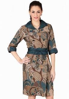 22 kemeja batik lengan panjang modern terbaru elegantria