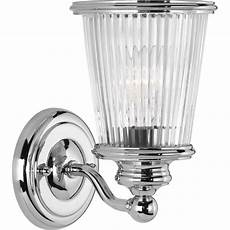 progress lighting radiance collection 1 light polished chrome bath sconce with clear ribbed