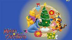 merry christmas winnie the pooh decorating the christmas tree gifts cartoon photo desktop hd