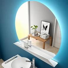 spiegel mit led salgar sunrise spiegel rund mit ablage und led licht 80cm