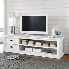 meuble tv 2 tiroirs blanc newport maisons du monde