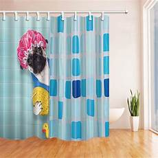 yellow duck shower curtain with shower cap yellow duck mildew resistant