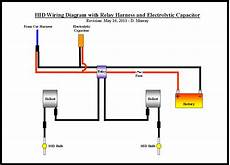 wiring diagram for and capacitor hid wiring diagram with relay harness and electrolytic capacitor dodge avenger