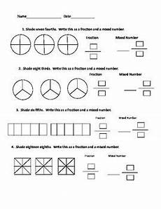 4th grade math worksheet improper fractions fraction mixed number worksheet classroom ideas for 3rd