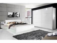 Schlafzimmer Weiß Komplett - silent komplett schlafzimmer weiss hochglanz 4 teilig 270 cm