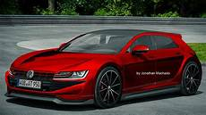 render new 2020 volkswagen golf mk8 gti hybrid 400 hp