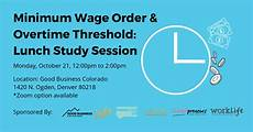 wage oder waage minimum wage order overtime threshold lunch study