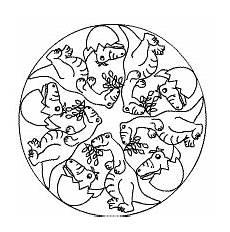 Mandala Malvorlagen Dinosaurier Dino Mandala Ausgestorbene Tiere Tiere Dinosaurier