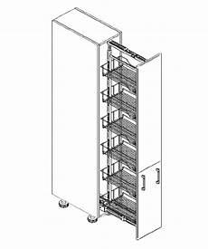 Küchenschrank Mit Auszug - k 252 chenschrank dc 40 207 c apothekerschrank