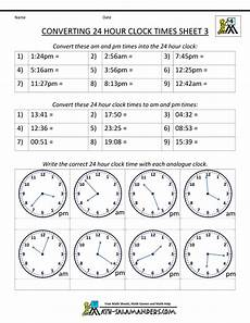military time conversion 24 hour clock 3 telling time 24 hour clock worksheets 24 hour