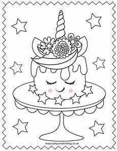 Malvorlagen Unicorn Cake Sweet Unicorn Coloring Pages Free Printable