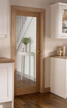 Kitchen Doors Interior by Burford Single Panel Oak Glazed Howdens Joinery The