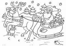 Ausmalbild Weihnachtsmann Mit Schlitten Weihnachten Ausmalbilder 1ausmalbilder