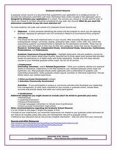 graduate school admissions resume sle http www resumecareer info graduate school