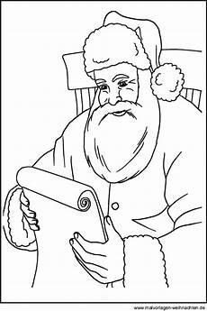 ausmalbilder vom weihnachtsmann zum ausdrucken und ausmalen