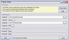 net based opc ua client server sdk write basic write