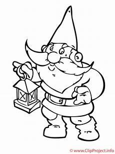 gnome colouring page