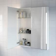 Storjorm Armoire Miroir 2pte 233 Clairage Int Blanc Ikea