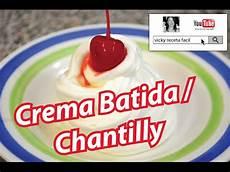crema chantilly in gravidanza c 243 mo hacer crema chantilly crema batida nata montada youtube