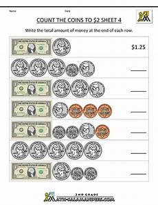adding money worksheets grade 3 2522 free money worksheets count the coins to 2 dollars 4 with images money math worksheets