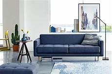 sofa blau skandinavisch idee zum wohnen einrichten in pastellfarben