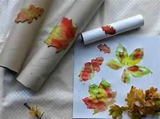 Herbst Basteln Kinder - herbst basteln kinder stempelrolle