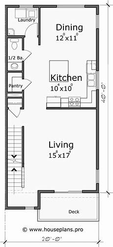 4 bdrm house plans four unit town house plan 4 bedroom master on main floor f 583