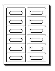 avery business card template 12 per sheet audio cassette labels avery 174 5198