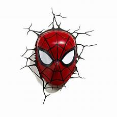 buy marvel 3d spider man mask wall light in cheap