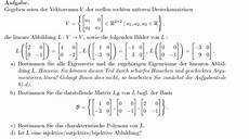 konstruktion einer linearen abbildung mit gegebenen