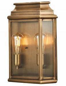 elstead st martins 2 light large solid aged brass outdoor wall lantern