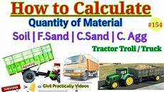 how to calculate quantity of material in tractor tralli or