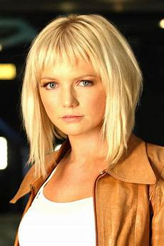 spearritt angled bob short choppy bangs