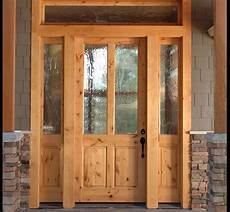 solitude style knotty alder 2 lite craftsman entry door