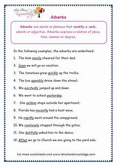 grade 3 grammar topic 16 adverbs worksheets lets knowledge