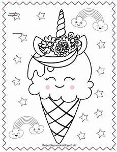 sweet unicorn coloring pages free printable