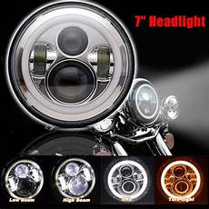 7 Quot Chrome Moto Phare Hid Led Oule Phare Pour Harley