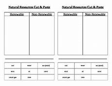 natural renewable and nonrenewable resources cut paste by carrie culpepper