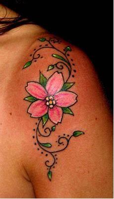 tatuaggi dei fiori il tatuaggio botanico i fiori di ciliegio blossom