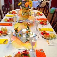 orange and yellow table decorations orange weddings