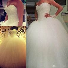 sweetheart tulle big poofy bling ball gown wedding dresses