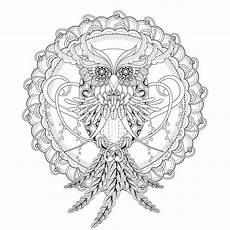 mandala owl m alas coloring pages