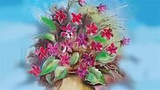 fiori in pittura fiori in vaso lezione di pittura a olio how to draw