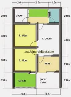 51 Denah Rumah Minimalis Sederhana Ukuran 6x10