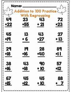 2nd grade math worksheet addition with carrying second grade fall math ela activity set common