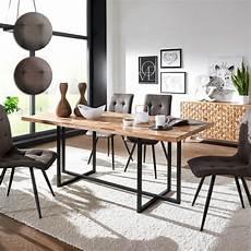 Esszimmertisch Mit Stühlen - esszimmertisch mit 4 st 252 hlen holz massiv esstisch set 200