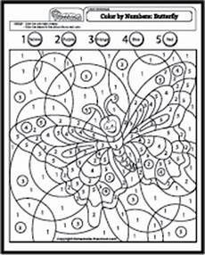 color by number worksheets butterfly 16083 color by number butterfly